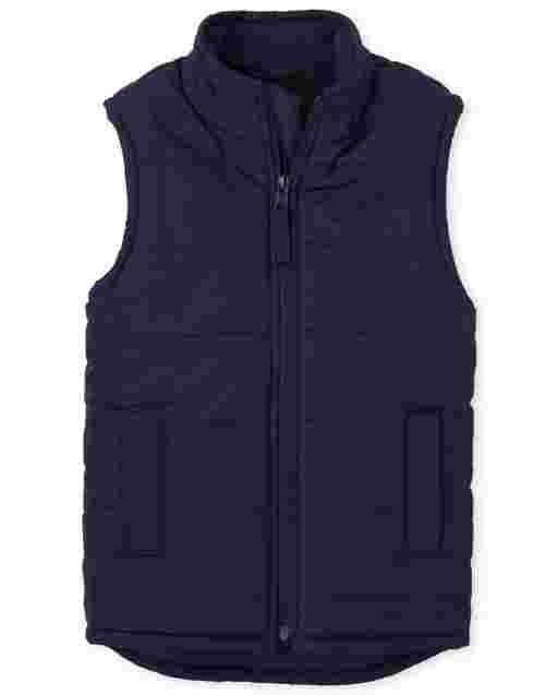 Boys Sleeveless Puffer Vest