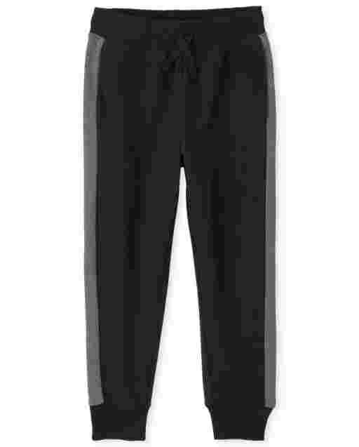 Boys Active Side Stripe Fleece Jogger Pants
