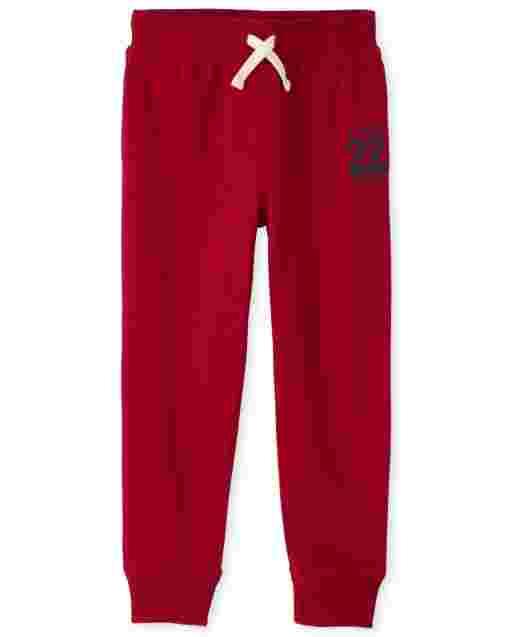 Boys Active Graphic Fleece Jogger Pants