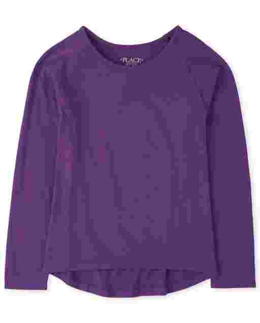 Girls Long Sleeve Basic Layering Tee