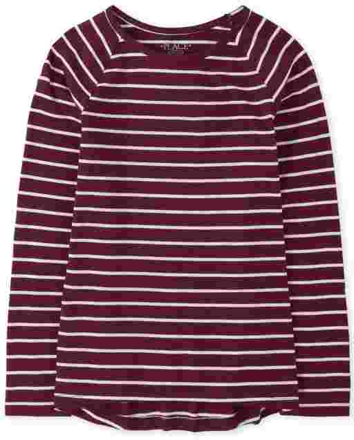 Girls Striped Basic Layering Tee