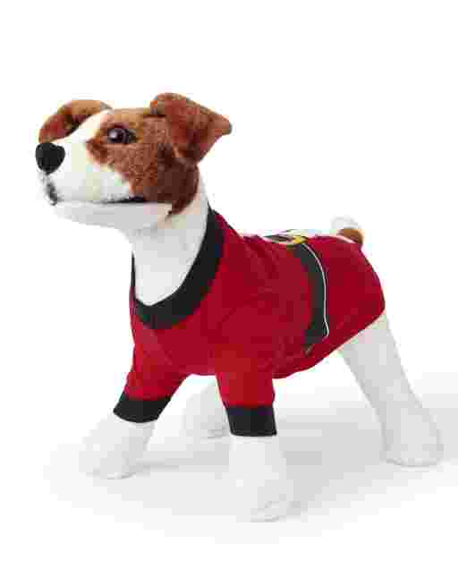 Dog Matching Family Christmas Santa Suit Cotton Pajamas