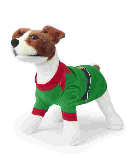 Dog Matching Family Christmas Elf Cotton Pajamas