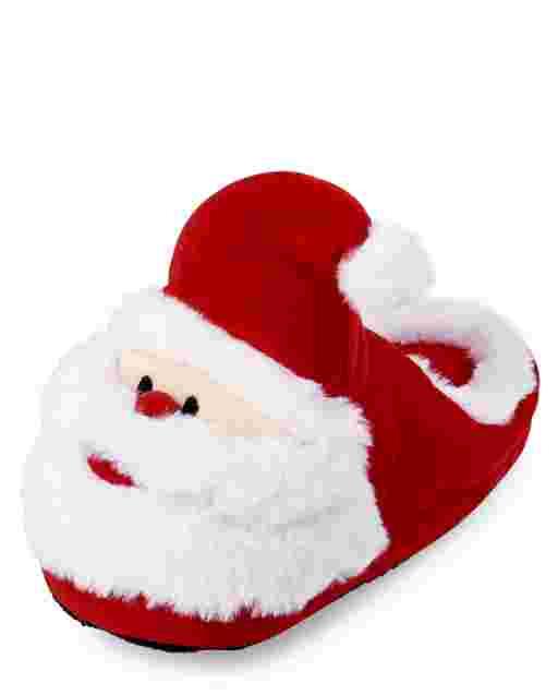 Unisex Kids Matching Family Christmas Santa Slippers