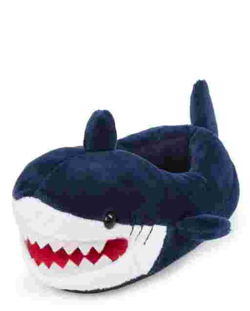 Pantuflas de tiburón para niños pequeños