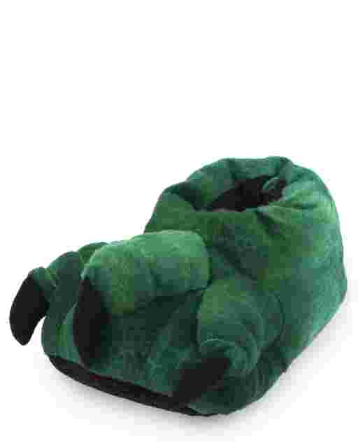Toddler Boys Dino Foot Slippers