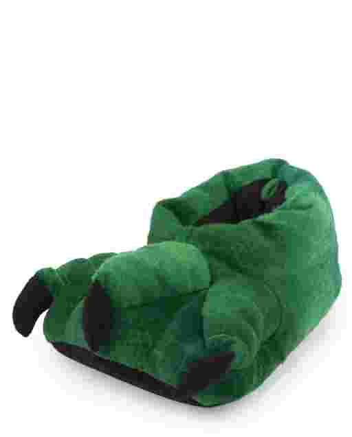 Boys Dino Foot Slippers