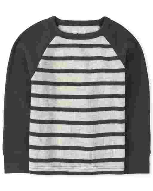 Baby And Toddler Boys Long Sleeve Striped Thermal Top
