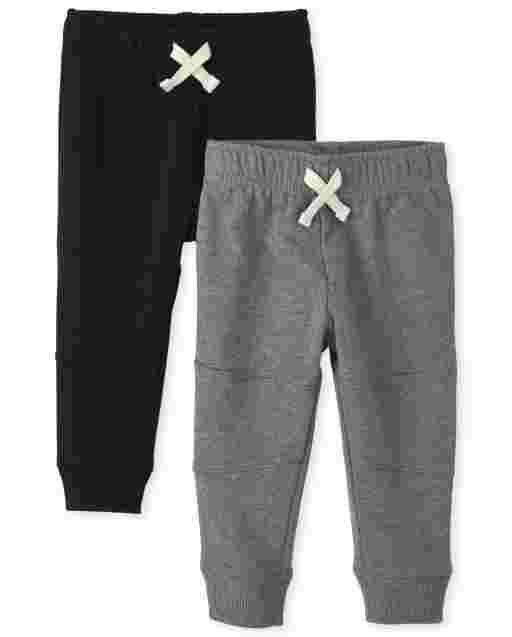 Baby And Toddler Boys Active French Terry Jogger Pants 2-Pack