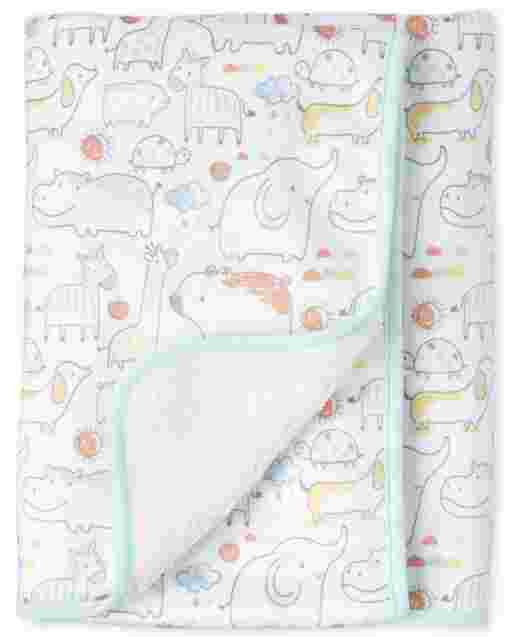 Unisex Baby Doodle Animals Cozy Blanket