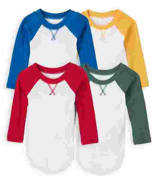 Baby Boys Long Raglan Sleeve Bodysuit 4-Pack