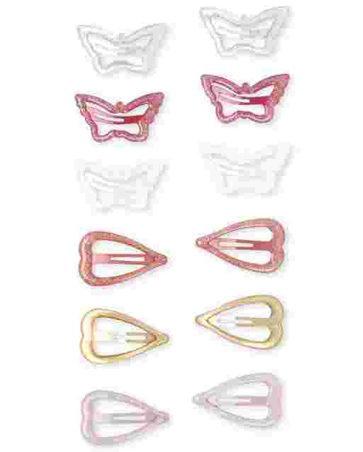 Girls Glitter Butterfly Hair Clip 12-Pack