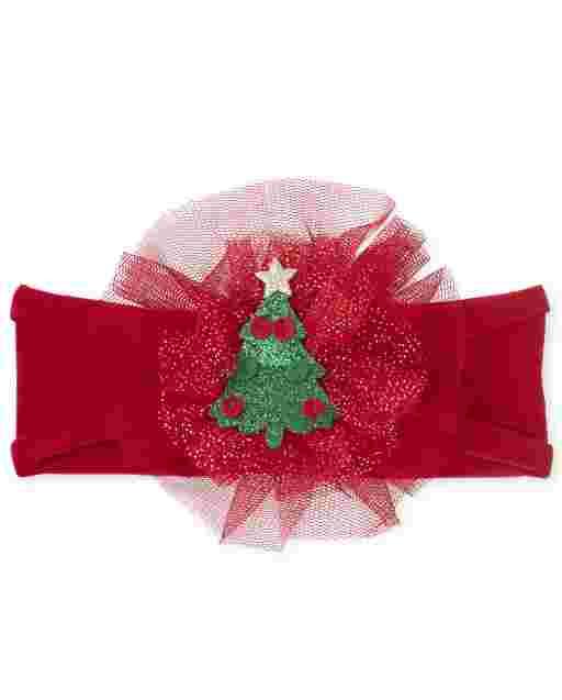 Baby Girls Christmas Flower Headwrap