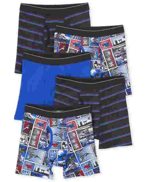 Boys Ninja Boxer Briefs 5-Pack