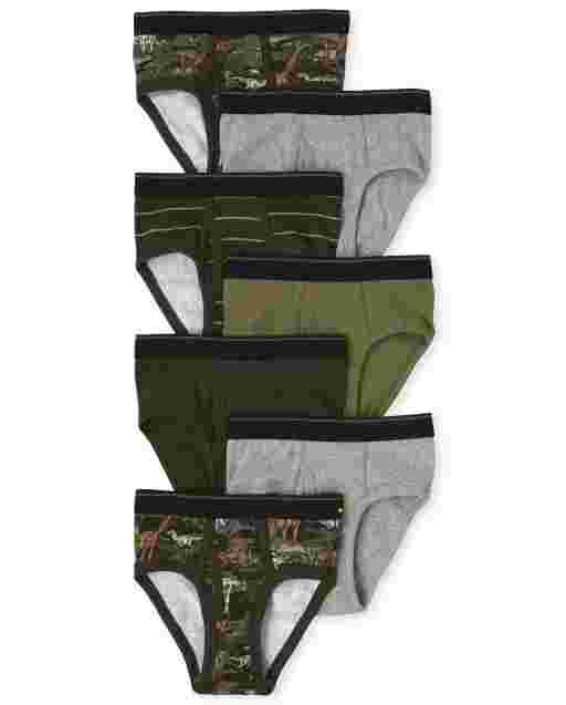 Boys Dino Briefs 7-Pack
