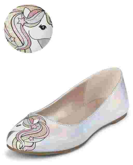 Girls Unicorn Ballet Flats