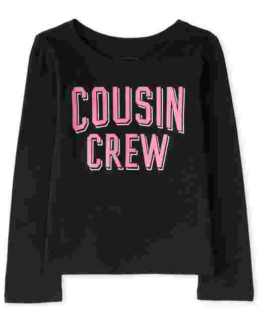 Baby And Toddler Girls Long Sleeve 'Cousin Crew' Graphic Tee