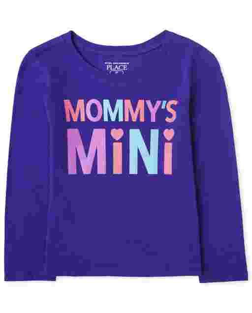 Camiseta estampada Mini ' manga larga para bebés y niñas pequeñas ' Mommy ' s