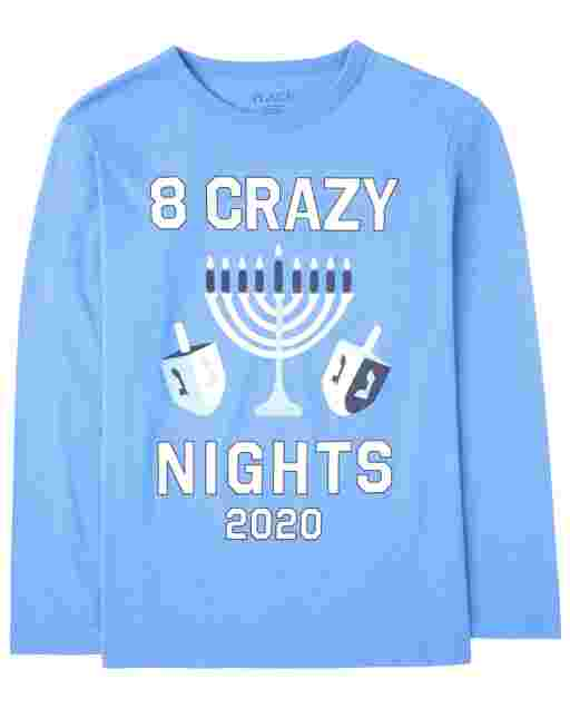 Unisex Kids Matching Family Hanukkah Long Sleeve '8 Crazy Nights 2020' Graphic Tee