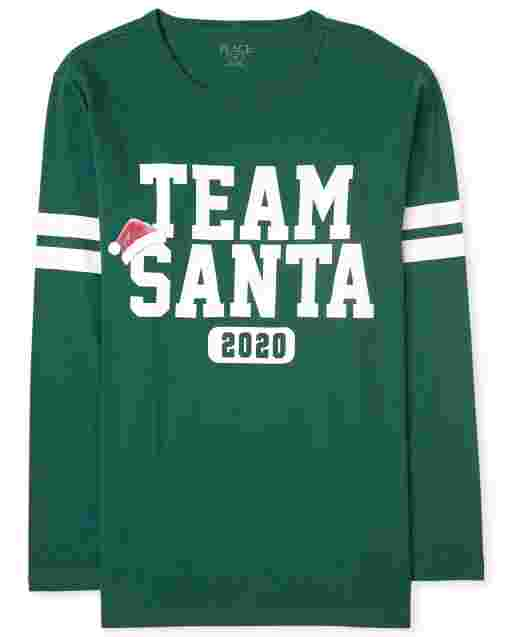 Unisex Adult Matching Family Christmas Long Sleeve 'Team Santa 2020' Graphic Tee