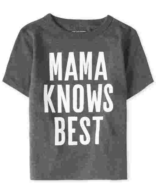 Baby And Toddler Boys Short Sleeve 'Mama Knows Best' Graphic Tee