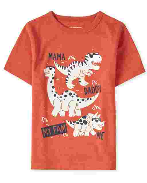 Baby And Toddler Boys Short Sleeve Dino Family Graphic Tee