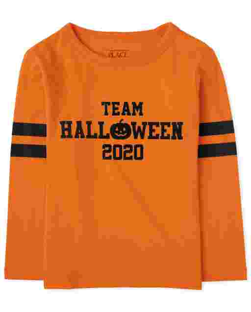 Unisex Baby And Toddler Matching Family Halloween Long Sleeve 'Team Halloween 2020' Graphic Tee
