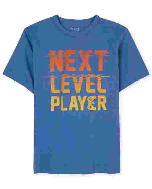 Boys Short Sleeve 'Next Level' Video Game Graphic Tee