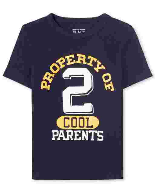 Baby And Toddler Boys Short Sleeve 'Property Of Cool Parents' Graphic Tee