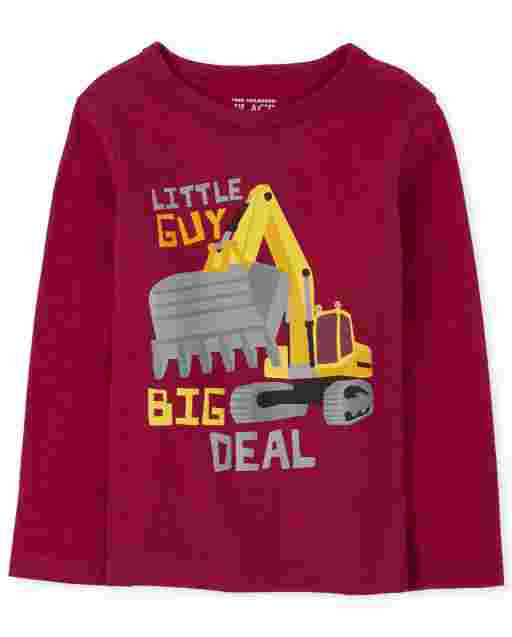 Baby And Toddler Boys Long Sleeve 'Little Guy Big Deal' Graphic Tee