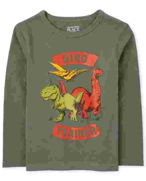 Baby And Toddler Boys Long Sleeve 'Dino Trainer' Graphic Tee