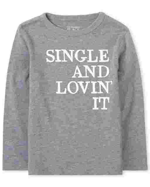 Camiseta de manga larga con estampado ' individual y Lovin ' It ' bebés y niños pequeños
