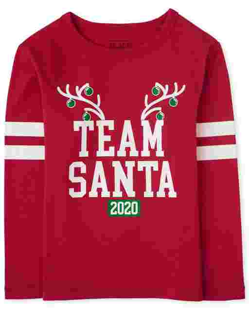 Unisex Baby And Toddler Matching Family Christmas Long Sleeve 'Team Santa 2020' Graphic Tee