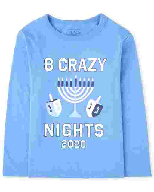 Unisex Baby And Toddler Matching Family Hanukkah Long Sleeve '8 Crazy Nights 2020' Graphic Tee