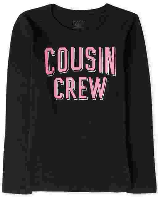 Girls Long Sleeve Cousin Crew Graphic Tee
