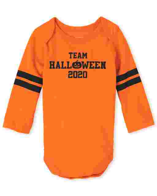 Unisex Baby Matching Family Halloween manga larga ' Team Halloween 2020 ' Body gráfico