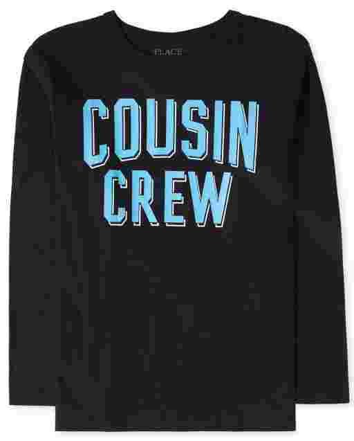 Boys Long Sleeve 'Cousin Crew' Graphic Tee