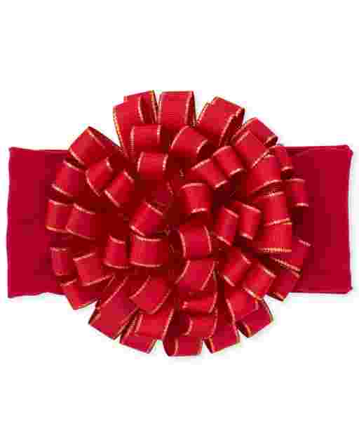 Baby Girls Christmas Bow Headwrap
