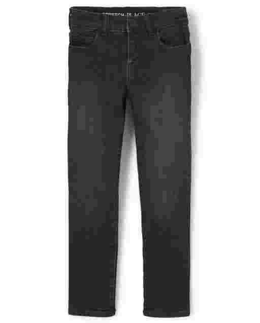 Boys Basic Straight Jeans - Dry Indigo Wash