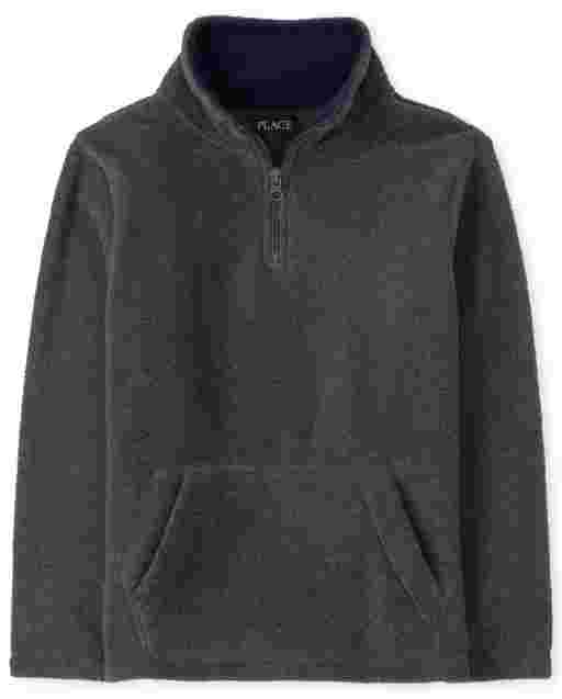 Boys Long Sleeve Microfleece Half Zip Pullover