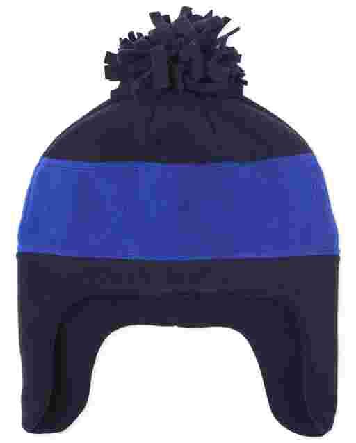 Boys Colorblock Microfleece Hat