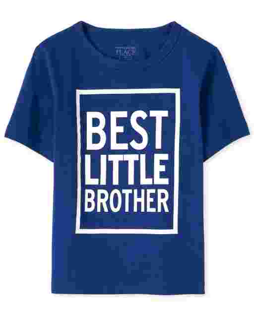 Baby And Toddler Boys Short Sleeve 'Best Little Brother' Graphic Tee