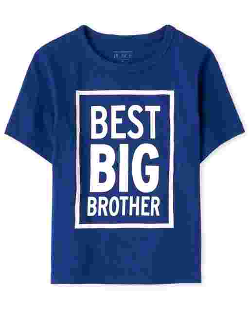 Baby And Toddler Boys Short Sleeve 'Best Big Brother' Graphic Tee
