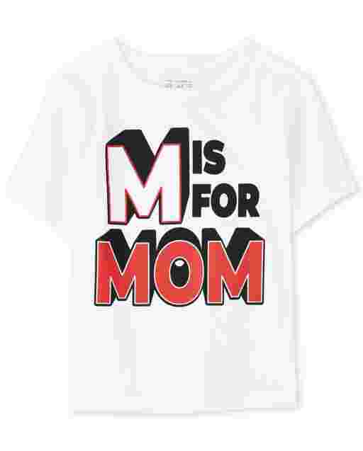 Baby And Toddler Boys Short Sleeve 'M Is For Mom' Graphic Tee