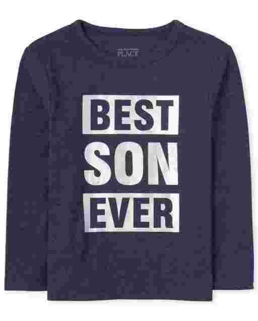 Baby And Toddler Boys Matching Family Long Sleeve Foil 'Best Son Ever' Graphic Tee