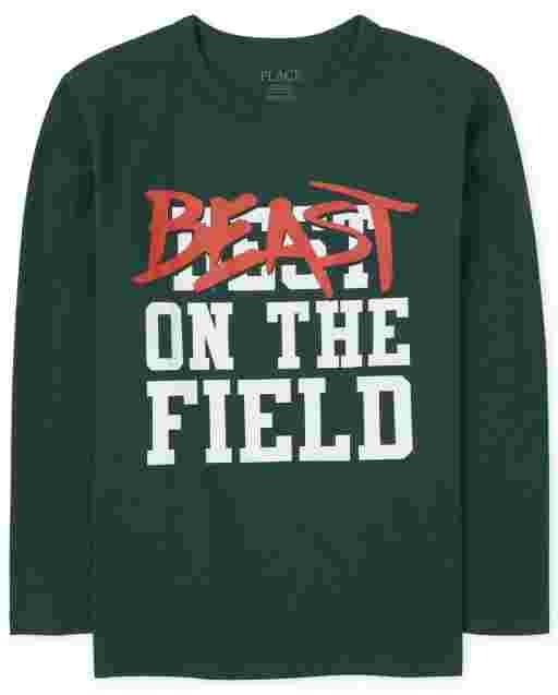 Camiseta estampada ' Beast On The Field ' manga larga para niños