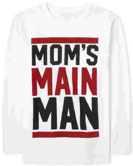 Camiseta estampada Main Man para niño Mom ' s