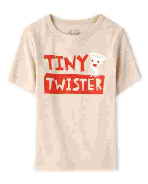 Baby And Toddler Boys Short Sleeve 'Tiny Twister' Graphic Tee