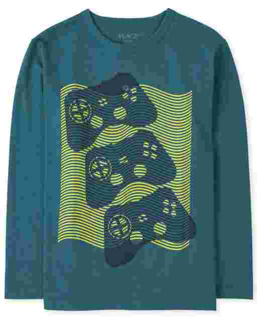 Boys Long Sleeve Game Controllers Graphic Tee