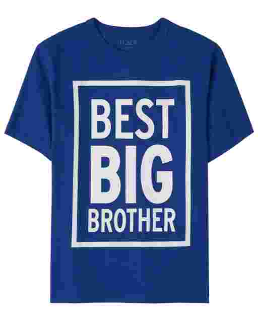 Boys Short Sleeve 'Best Big Brother' Graphic Tee